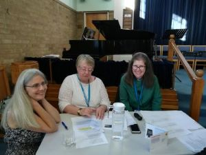 Lynne, Rita and Jacky from Synod staff
