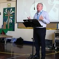 Stuart leading Bible study
