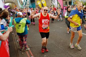 Chris in the London Marathon
