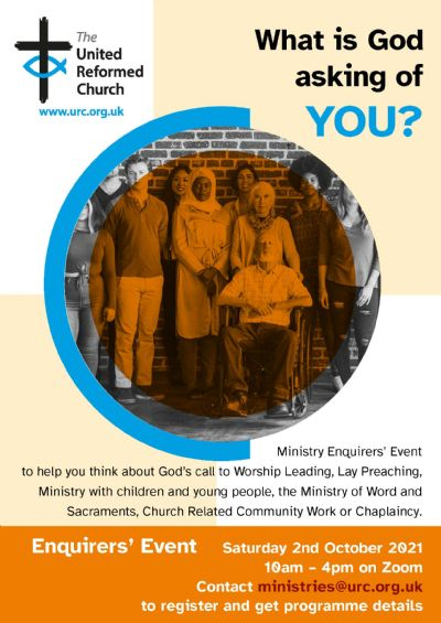Ministry Enquirers Event poster