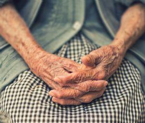 Elderly woman's hands