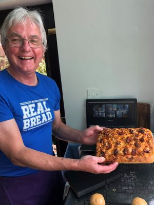 Roy with bread