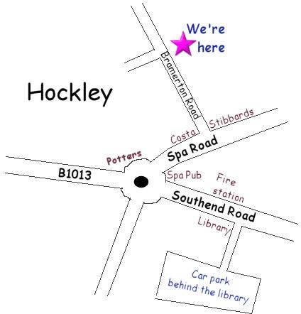 We're in Bramerton Road, Hockley, Essex.
