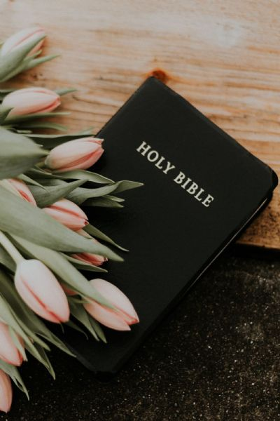 Prayer - Bible and Flowers