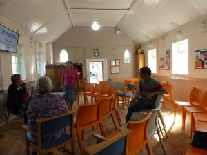 Hall in use