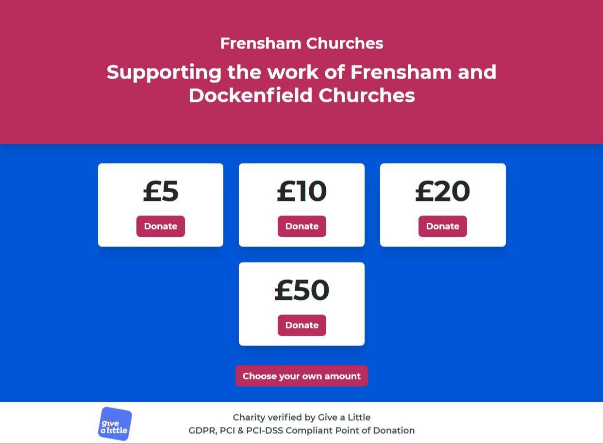 Frensham Churches Donation Site