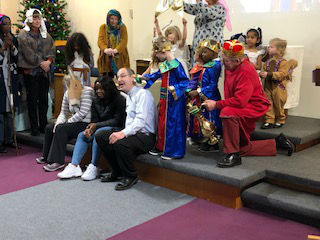 A picture of our nativity service