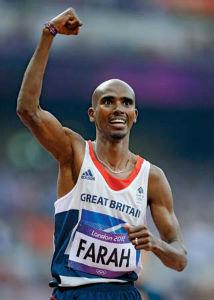 Mo Farah winning a race