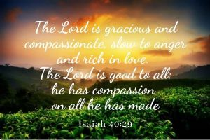 lord is gracious and compassionate
