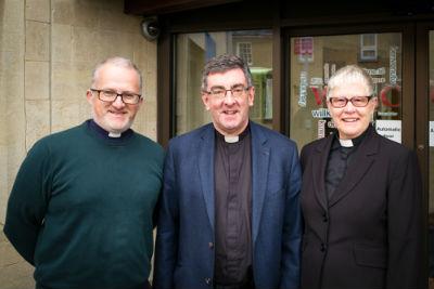 From left to right: Deacon Ian Murray, The Revd Colin A Smith and The Revd Barbara Garwood