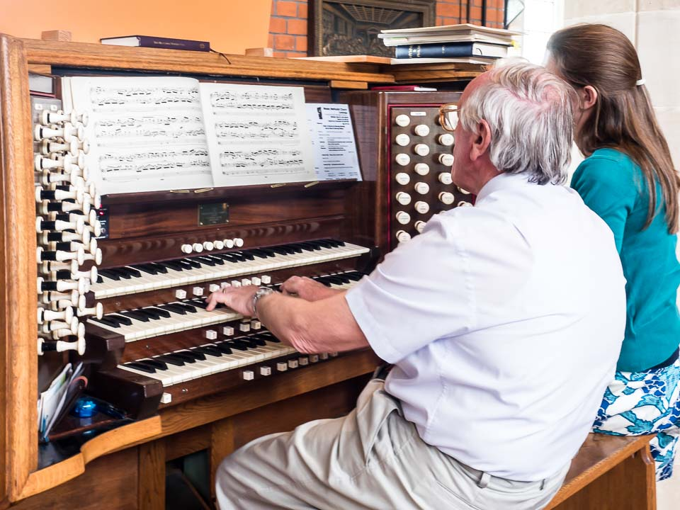 Our organist and choirmaster