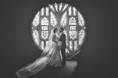 Wedding - rose window