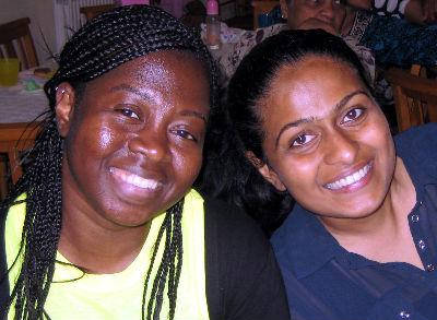 Carol and Thanuja