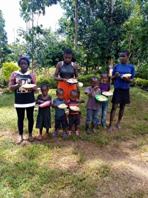Orphans looked after by Julius' family