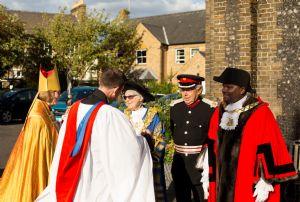 Bishop Sarah and guests