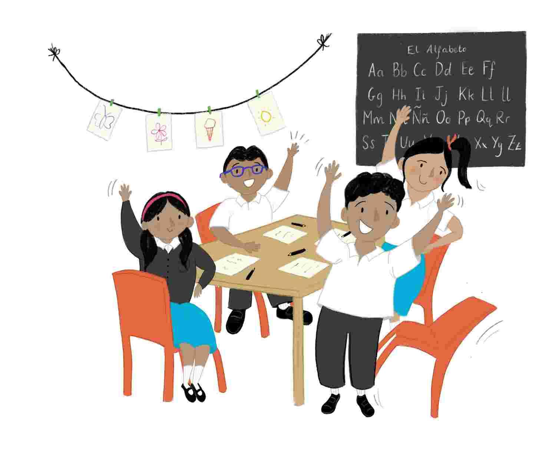Mexico Children_s Day booklet illustration