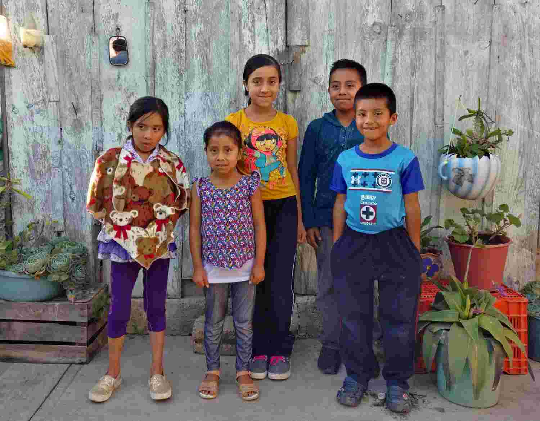 Children from El Encanto, Chiapas