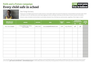 Every child safe petition