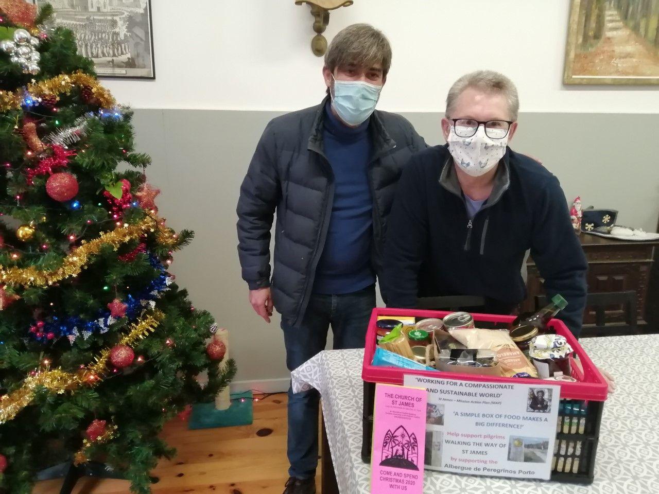 St James' continued support of the Albergue de Peregrinos do Porto with Christmas goods.