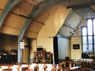 inside the tin tabernacle