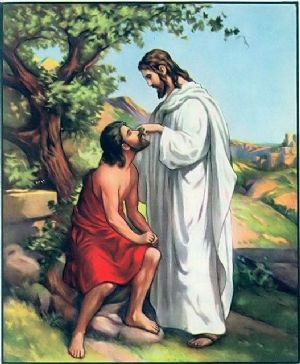 jesus and blind