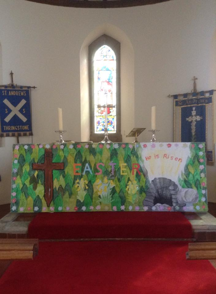 Altar at St Andrew's At Easter