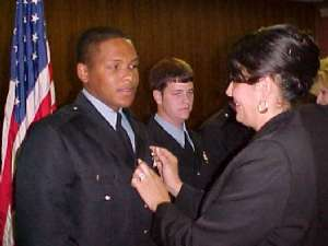 Williams being pinned by his mother Ivory Joe