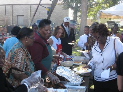 There was plenty of food at the 112 Anniversary