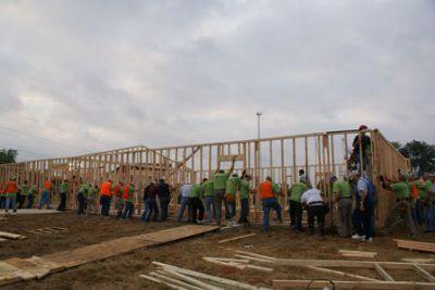 350 people built a church in one day in Sterlingto