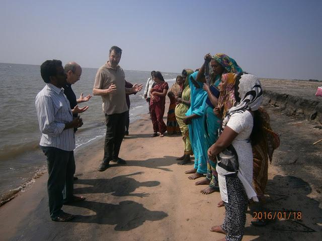 Praying together before Baptism