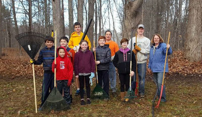 Youth Group Raking Project