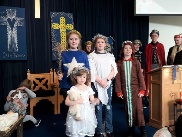 Children who sang at the Nativity Service
