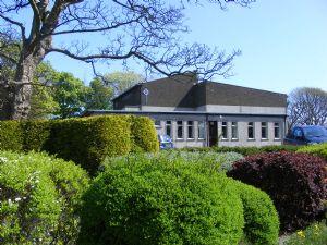 The new building taken from the church memorial garden