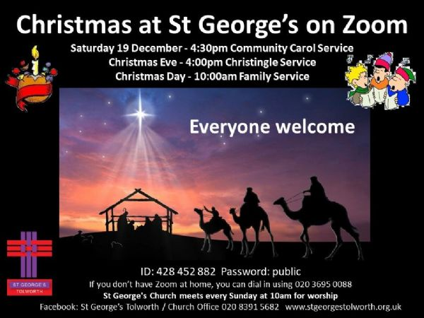 Christmas at St Georges on Zoom