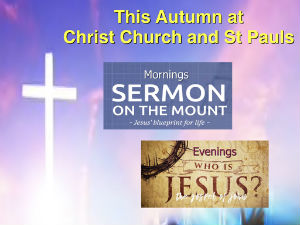 Autumn Sermons 2019