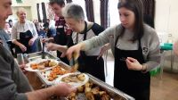 Serving lunch at Community Kitchen