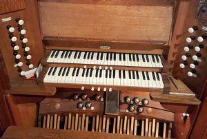 Organ - keyboard close up