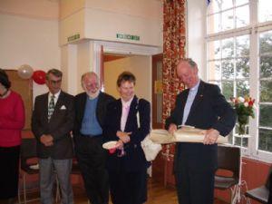 Rev Alan Green receiving gift