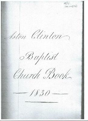 Church Minute Book in 1830