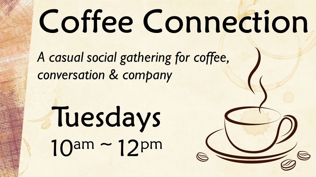 A casual social gathering for coffee, conversation and company