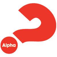 Alpha question mark logo