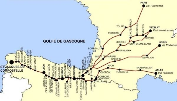 Map of the Pilgrimage route
