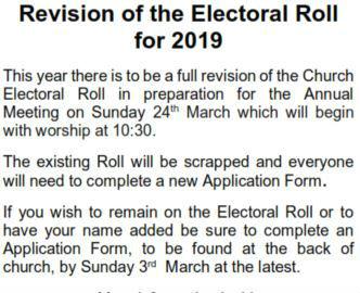 electoral roll 2019