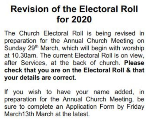 electoral role 2020