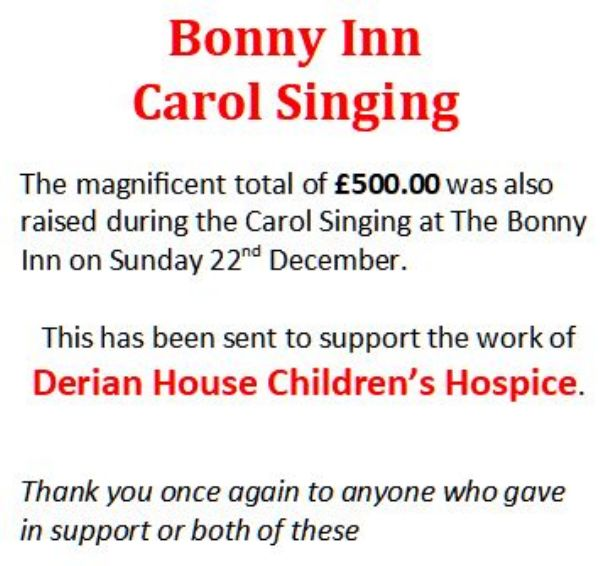 bonny inn carol singing 2019