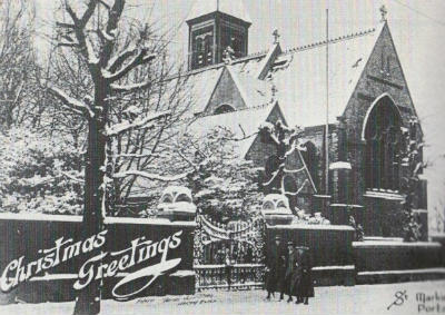 St Marks Church at Christmas c1920
