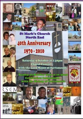 St Mark 40th Anniversary 1970-2010