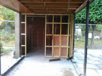 Concrete now down  work to create disabled toilet