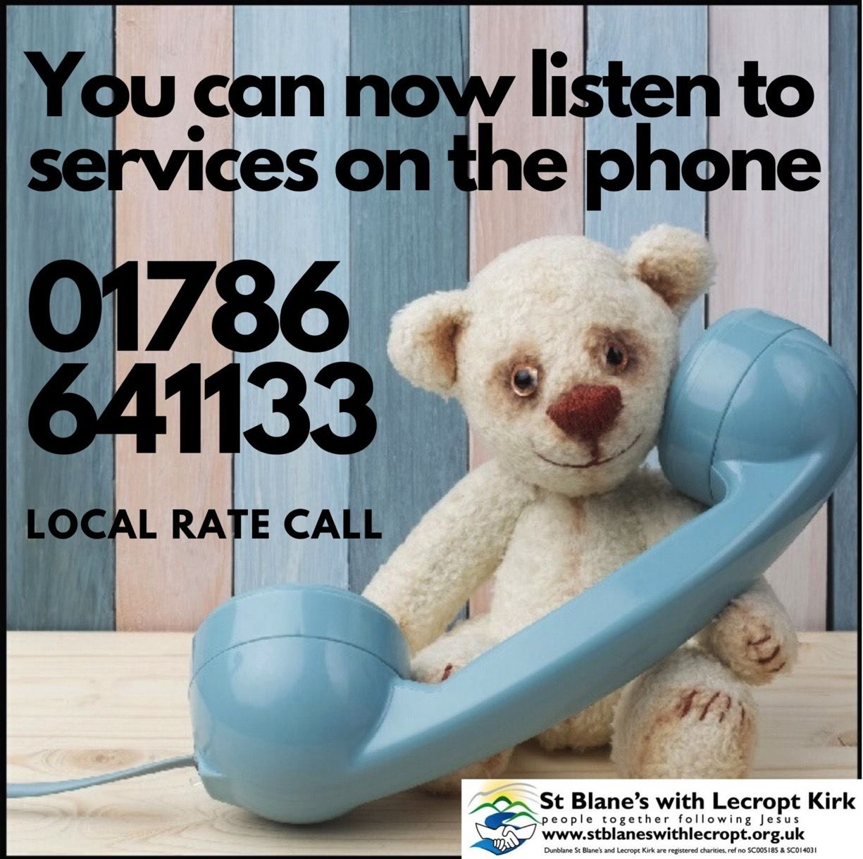 Listen to service on the phone