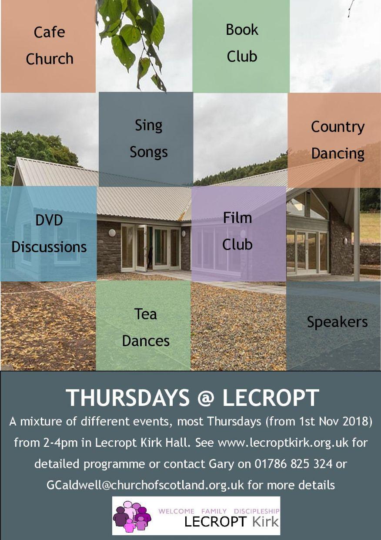 Thursdays @ Lecropt